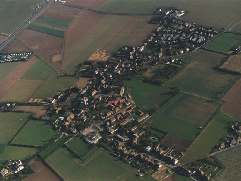Village seen from the air