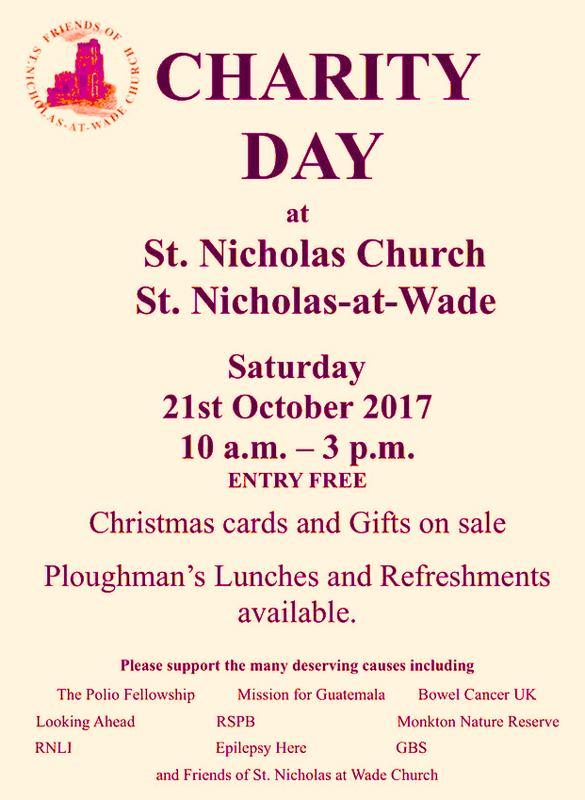 Past news and events at St Nicholas-at-Wade